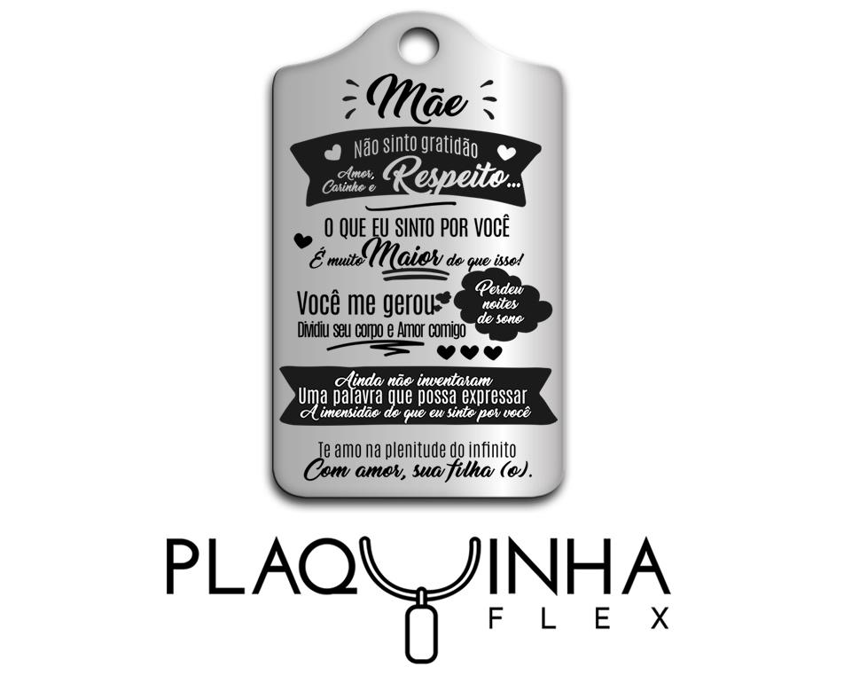 ❤ Homenagens - de Filhos para Mães Mod. 021 - Aço Inox