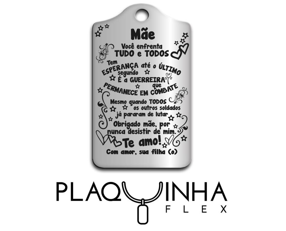 ❤ Homenagens - de Filhos para Mães Mod. 020-3 em Aço Inox