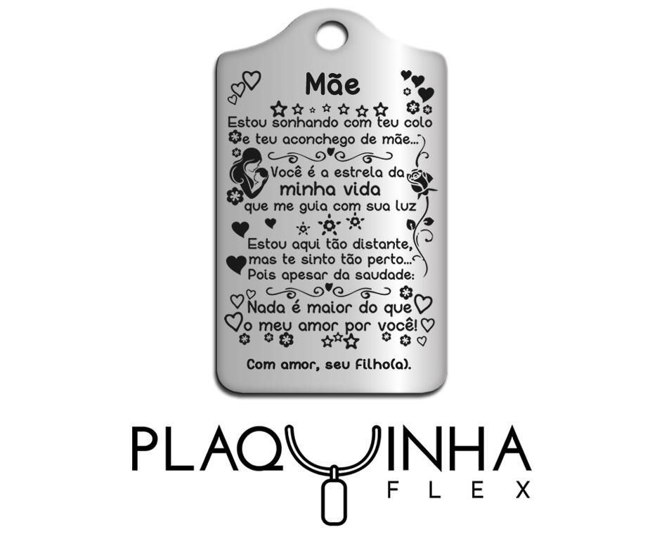 ❤ Homenagens - de Filhos para Mães Mod. 026 - Aço Inox
