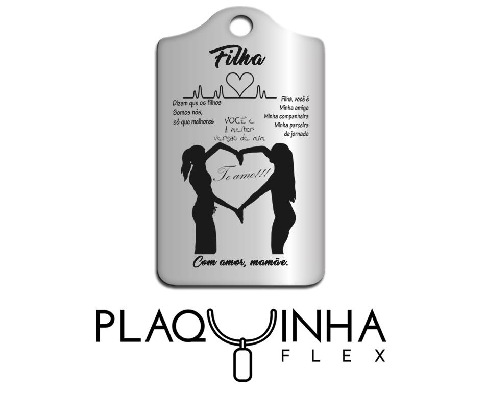 ❤ Homenagens - de Mãe para Filha Mod. 020-10 - Aço Inox