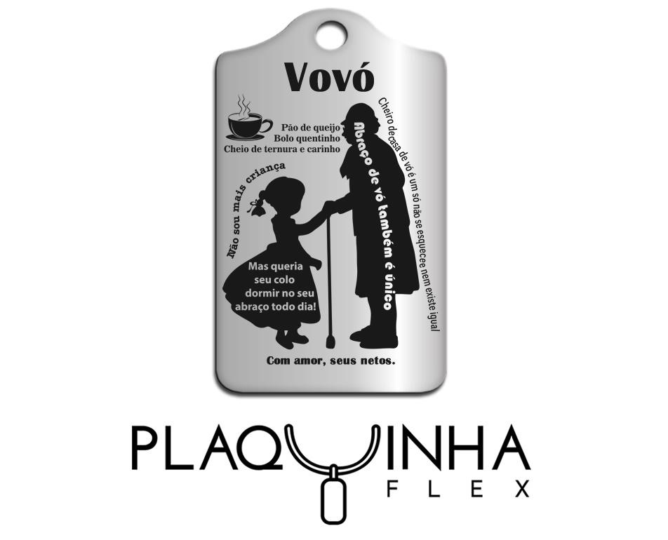 ❤ Homenagens - de Netos para Avó Mod. 102 - Aço Inox
