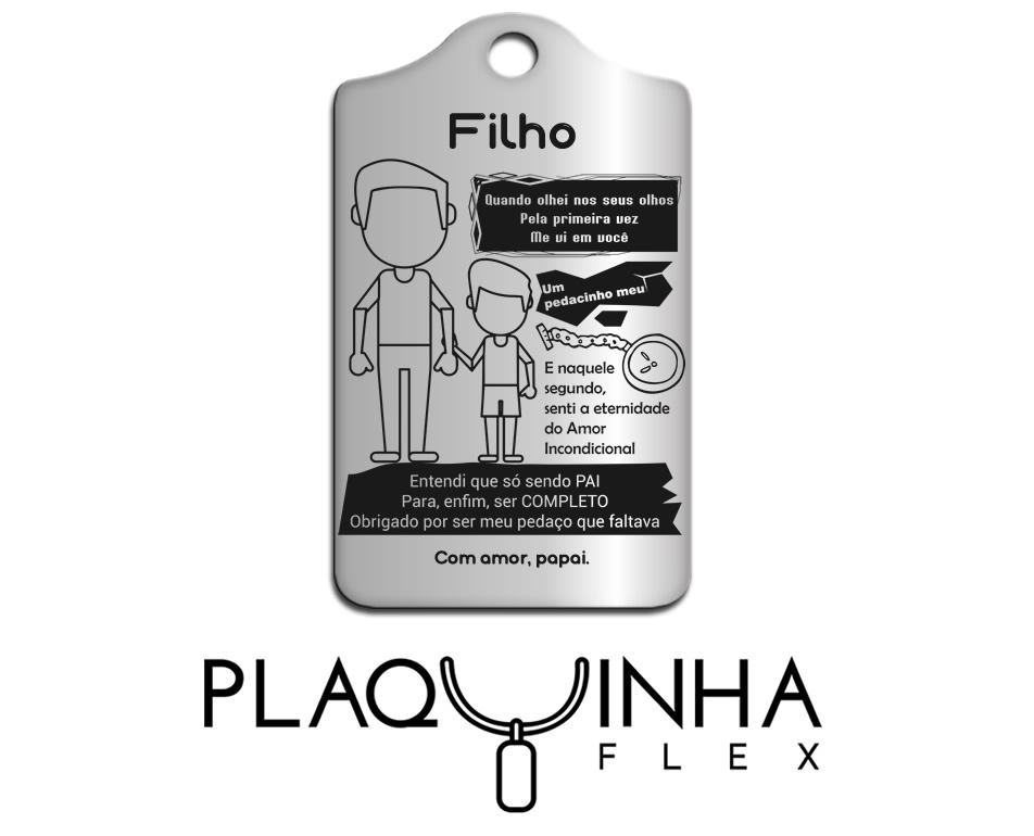 ❤ Homenagens - de Pai para Filho Mod. 018 - Aço Inox