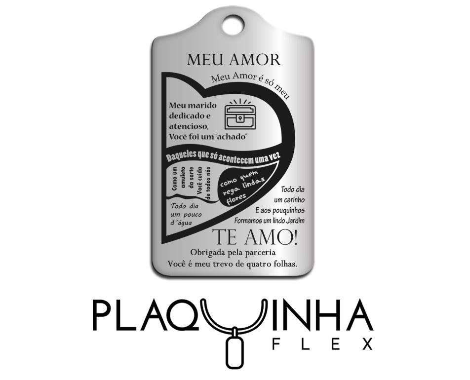 ❤ Homenagens - de Esposa para Marido Mod. 121 - Aço Inox