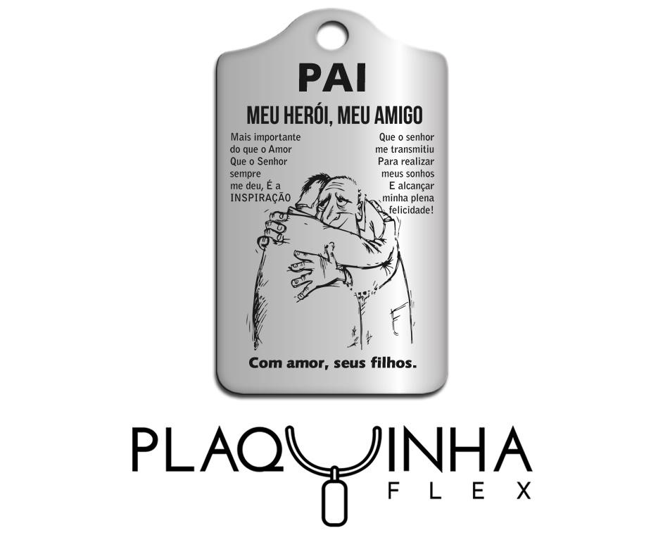 ❤ Homenagens - de Filhos para Pai Mod. 010-1 - Aço Inox