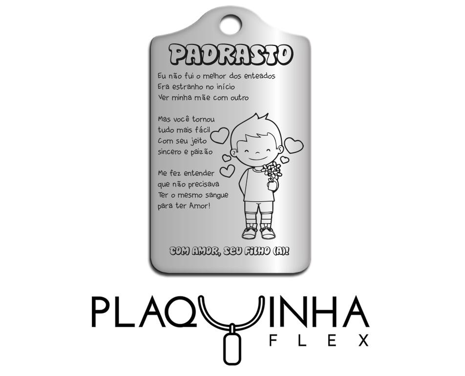 ❤ Homenagens - de Filhos para Padrasto Mod. 073 - Aço Inox