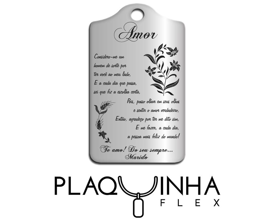 ❤ Homenagens - de Marido para Esposa Mod. 110-4 - Aço Inox