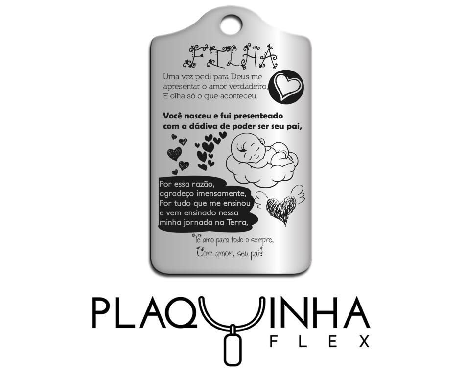 ❤ Homenagens - de Pai para Filha Mod. 040-1 - Aço Inox