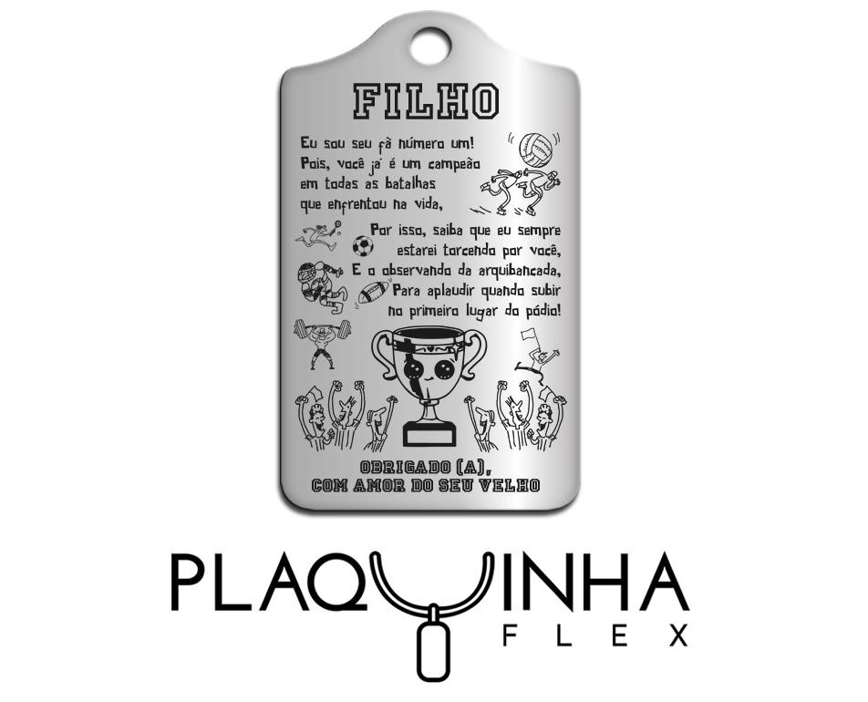 ❤ Homenagens - de Pai para Filho Mod. 030-1 - Aço Inox