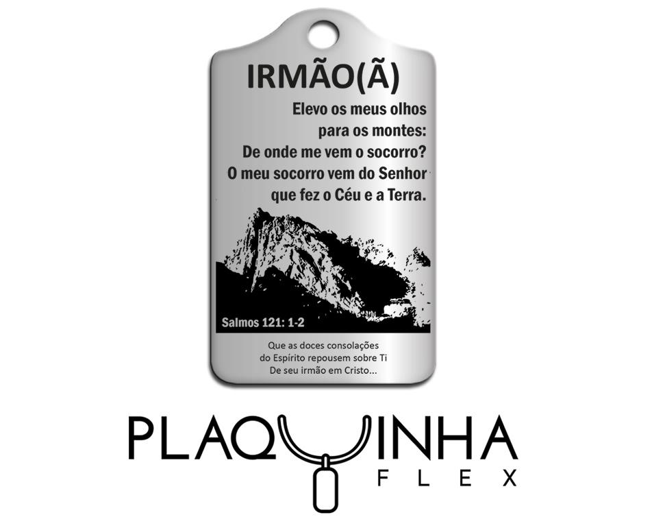 ❤ Homenagens - Bíblicas Mod. 210-1 - Aço Inox