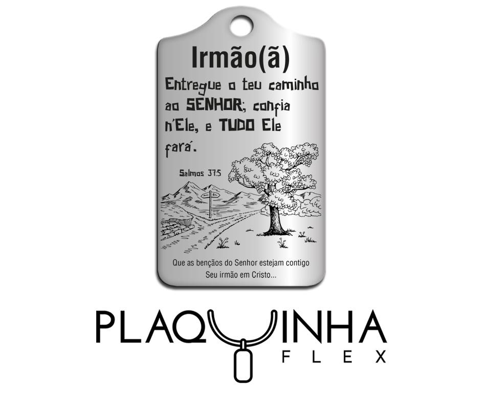 ❤ Homenagens - Bíblicas Mod. 210-2 - Aço Inox