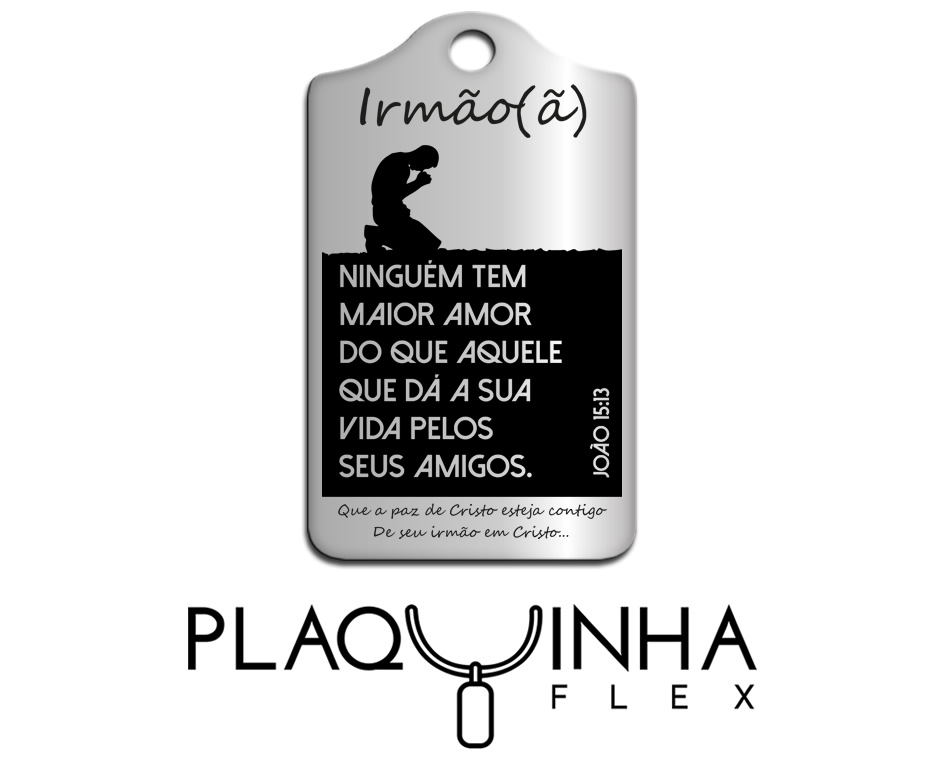 ❤ Homenagens - Bíblicas Mod. 210-7 - Aço Inox