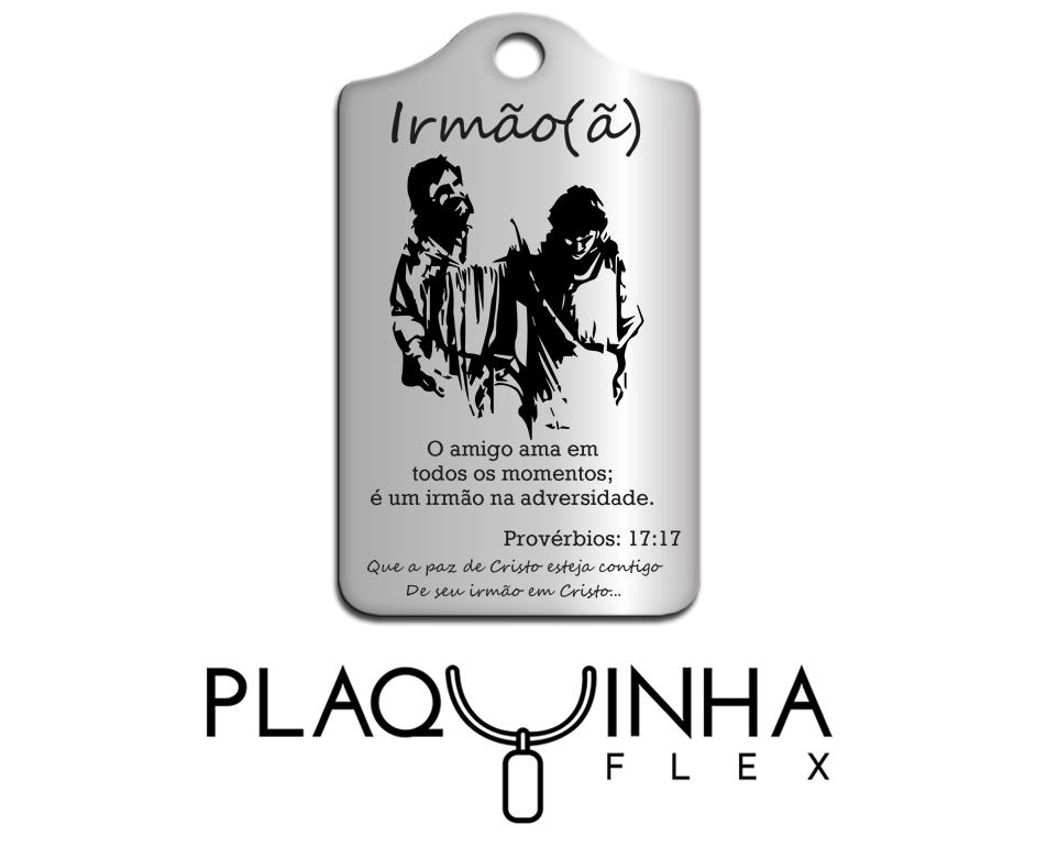 ❤ Homenagens - Bíblicas Mod. 210-9 - Aço Inox
