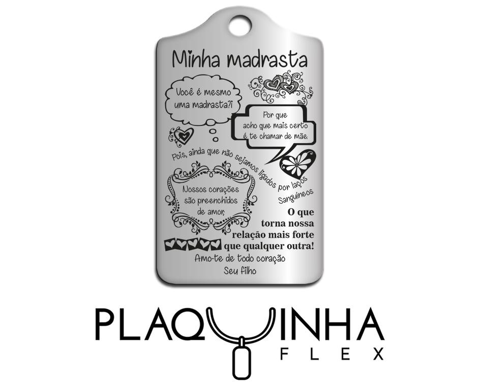 ❤ Homenagens - Filhos para Madrasta Mod. 084 - Aço Inox