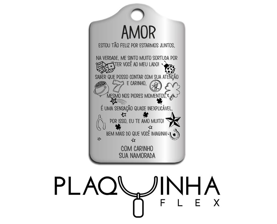 ❤ Homenagens - Namorada para Namorado Mod. 140-2 - Aço Inox