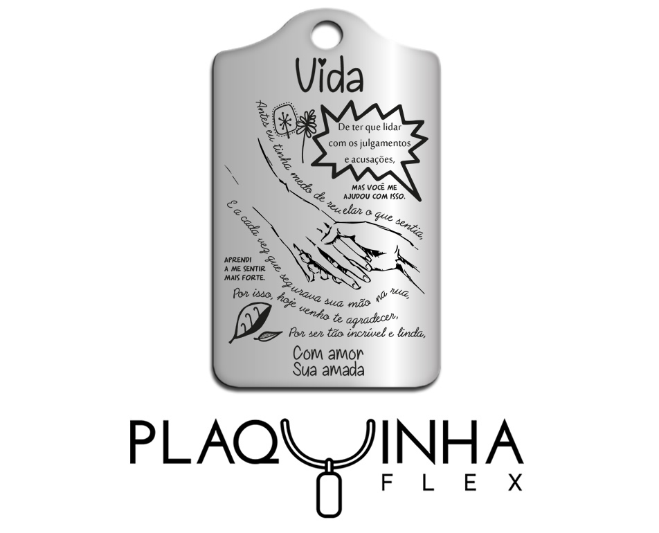 ❤ Homenagens - Namorada para Namorada Mod. 150-2 - Aço Inox