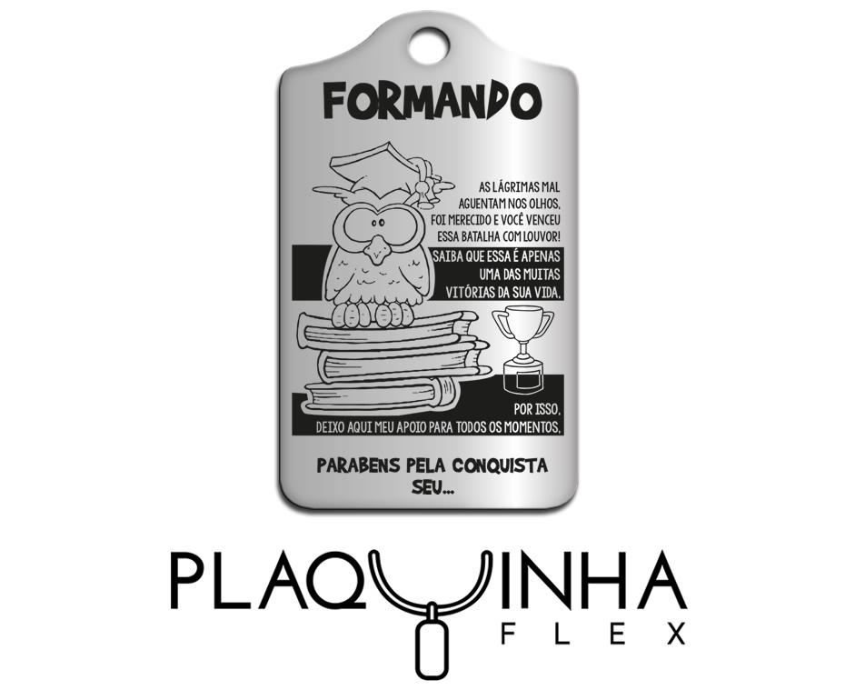 ❤ Homenagens - para Formandos Mod. 202 - Aço Inox