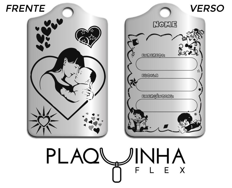 ❤ Amor - De mãe para Filho(a) Mod. 305 - Aço Inox FRETE GRÁTIS