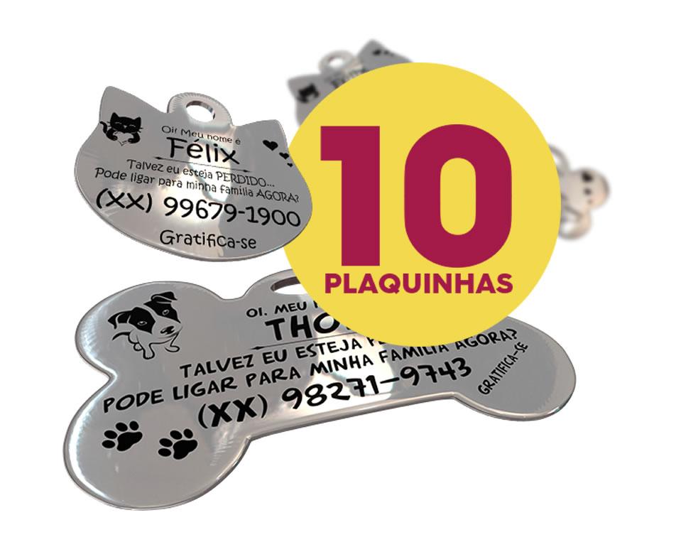 ❤ Combo 10 PlaquinhaFlex