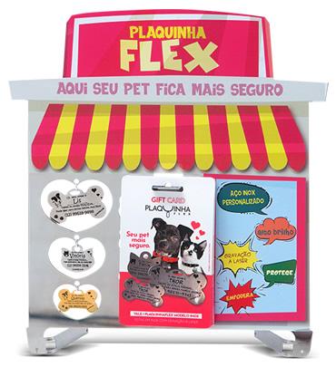 Lindo Display em Aço INOX Protecão para Exposição na Pratreleira de Pet Shops
